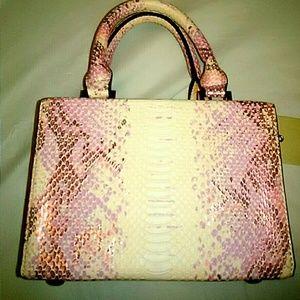 Pink Snake Skin Square Purse!